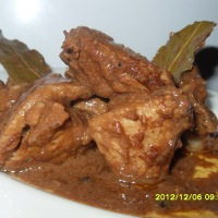 CHICKEN PORK ADOBO WITH LIVER SPREAD