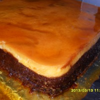 Impossible Flan (Chocoflan)